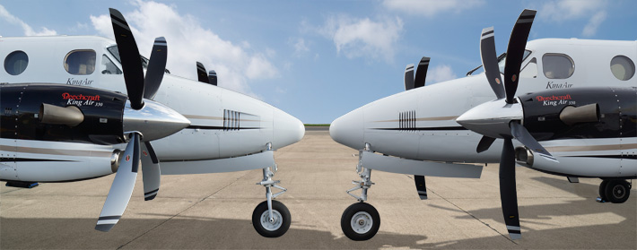 HC-E5P-3/NC10120 5-WAY composite propellers and HC-E4P-3K/E10479 4-way Aluminum swept props.